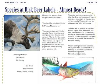 ACWS Beer Label Article
