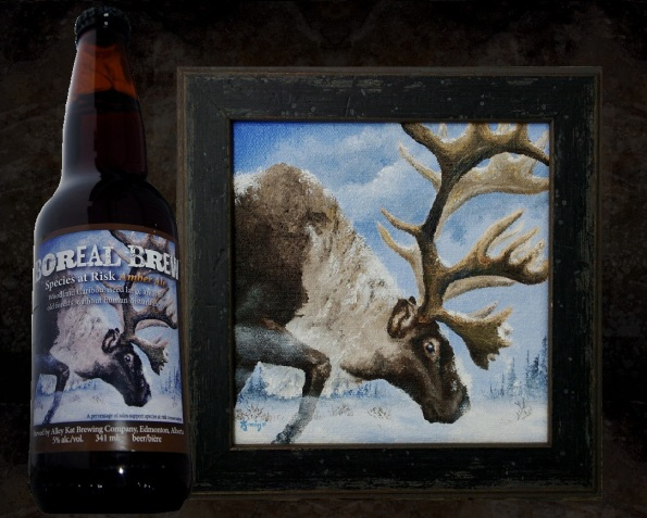 Boreal Brew - Species at Risk  beer label by Jason Kamin