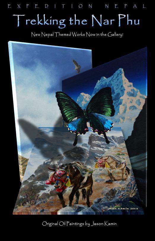 Nepal Painting Poster - Jason Kamin
