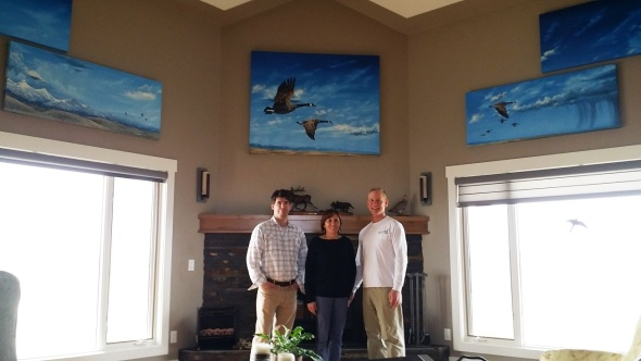 "Jason with the new owners of ""Northbound"", Patti and Cornel"