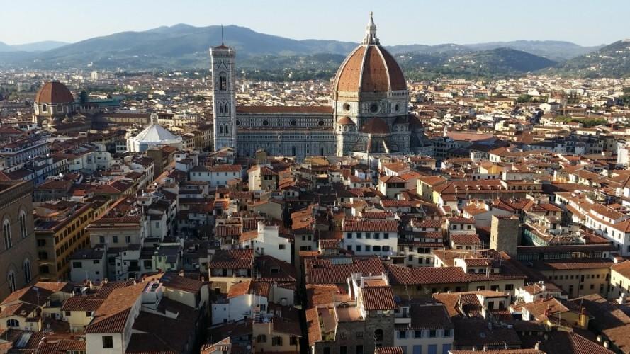 Il Duomo di Firenze - Cattedrale di Santa Maria del Fiore. View from Palazzo Veccio bell tower